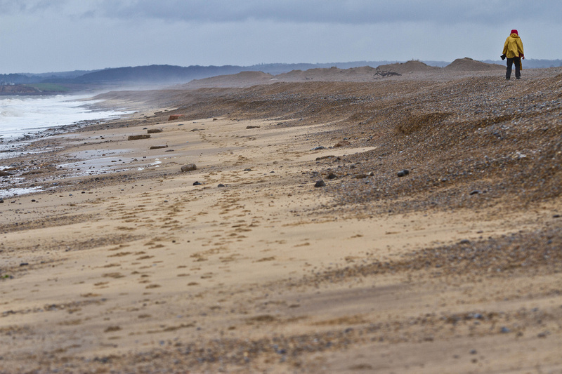 Brancaster beach in winter